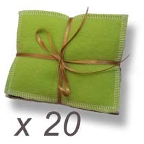lot de 20 lingettes lavables