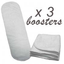 Lot de 3 booster pour couches culottes lavables