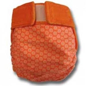 culotte lavable Champs de fleurs oranges