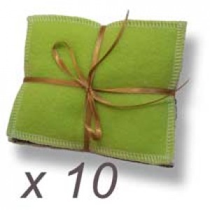 lot de 10 lingettes lavables